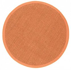 Runde tepper (sisal) - Manaus (brun/orange)