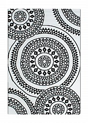 Teppe 133 x 190 cm (wilton) - BW Circle (sort/hvit)