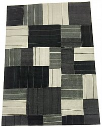 Patchwork Teppe - Superior new wool Patchwork (sort)
