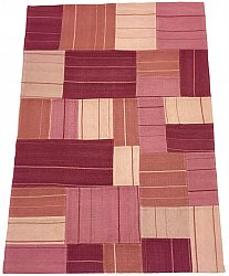 Patchwork Teppe - Superior new wool Patchwork (rosa)