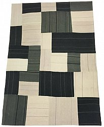 Patchwork Teppe - Superior new wool Patchwork (grå)