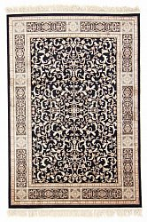 Teppe 135 x 195 cm (wilton) - Medallion (sort)
